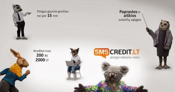 SMS Credit - pinigai šiuolaikiškam žmogui